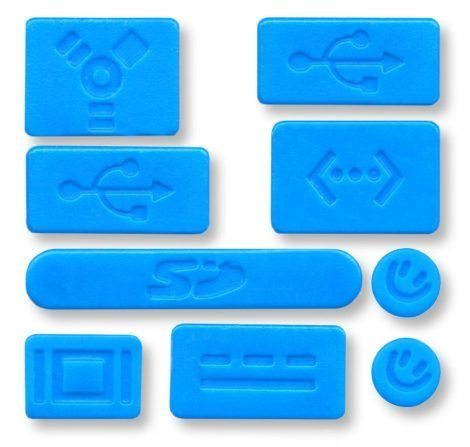 macbook air dust plugs blue