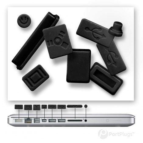 Macbook air dust plugs black
