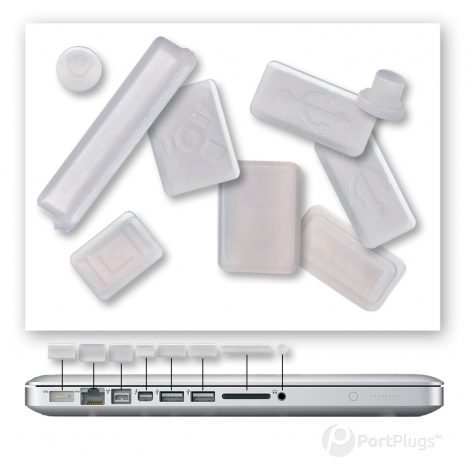 macbook air dust plugs clear
