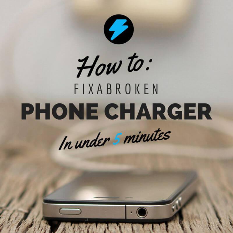 broken phone charger fix