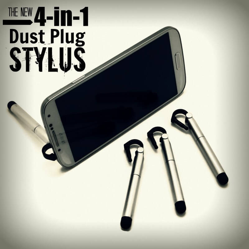 Dust Plug Stylus, by PortPlugs, the dust plug, port cover, and smartphone accessory authority