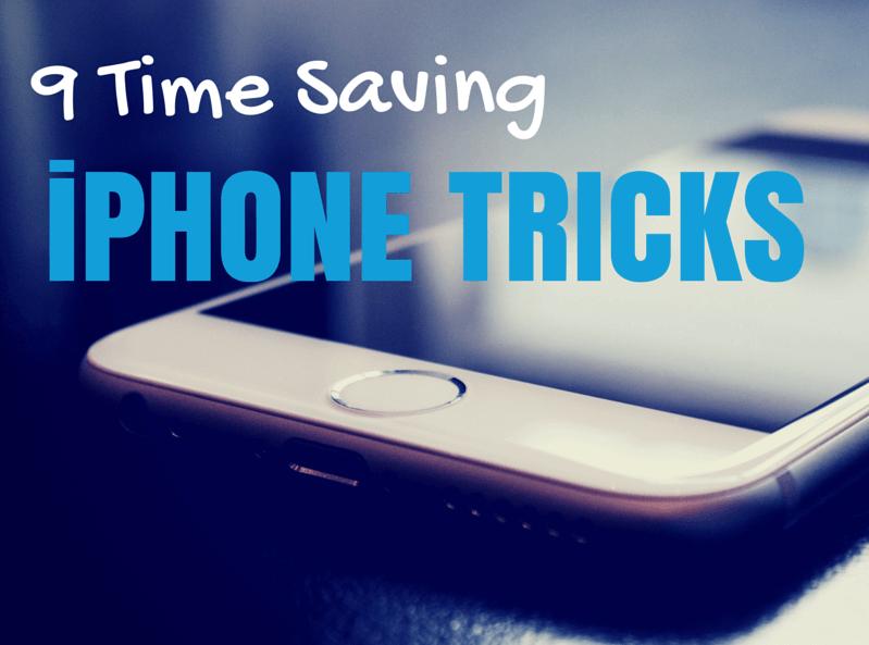 time saving iphone tips