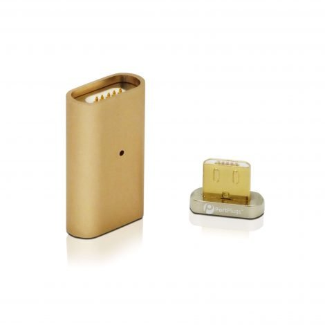 gold magnetic charging adapter