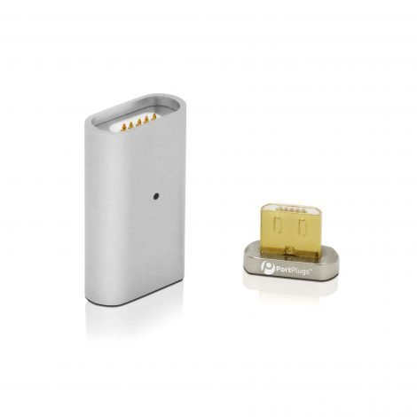 magnetic silver 2 piece adapter