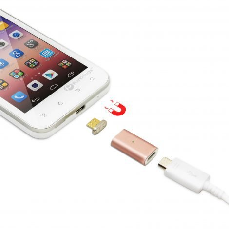 magnetic rose gold charging adapter