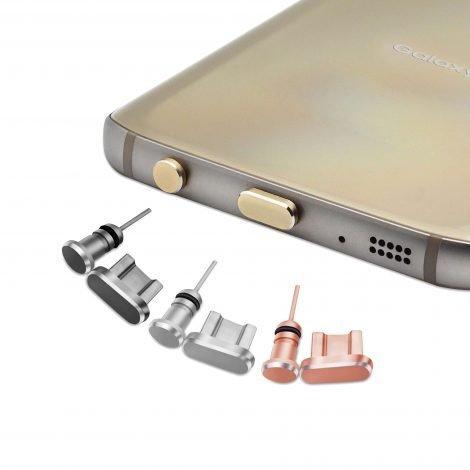 Aluminum dust plug set Android