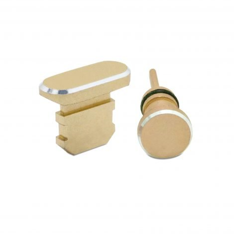 Gold iphone dust plug