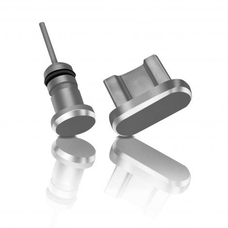 Aluminum dust plug covers