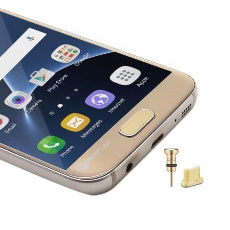 Aluminum dust plugs gold