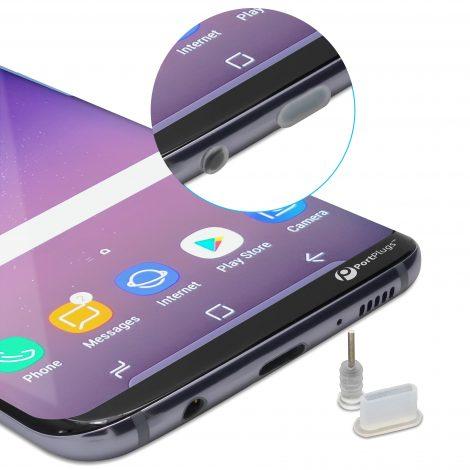 Dust plugs for usb c phones