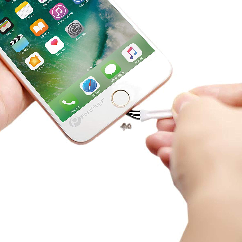 Transparent UKCOCO Dust Plugs USB-C Premium Silicone Earphone Plug 10 Pairs